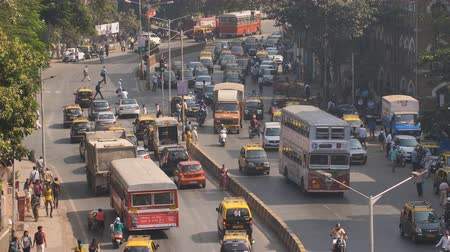 crowded : Mumbai, India - December 17, 2018: Day traffic in the city of Mumbai. India.