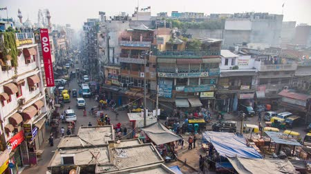 отель : Delhi, India - November 28, 2018: Street Main Bazaar in the old part of the capital of India.