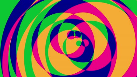 yuvarlak : Psychedelic Circles - Colorful Graphical Video Background Loop