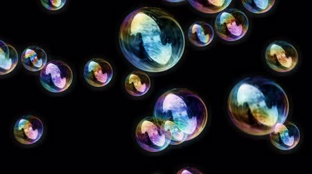 пузыри : Soap Bubbles  Black Background - Calm Video Background Loop