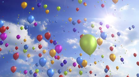 balonlar : Colorful Balloons - Festive  Party Video Background Loop