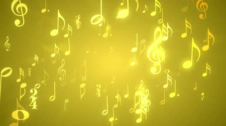 nobreza : Musical Notes Gold - 1080p Music Themed Video Background Loop