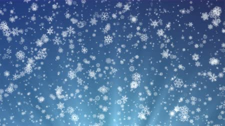 holy heaven : Pretty Snow - 4k Snowflakes And Christmas Video Background Loop @60fps Stock Footage