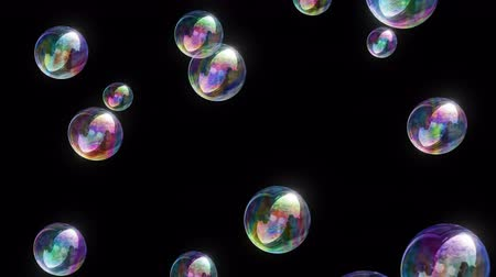 Soap Bubbles 4k - 4k Colorful Fun Video Background Loop @60fps Stok Video