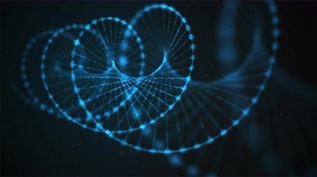 pokrok : Creative loopable animation of DNA UHD with alpha