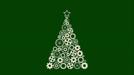 Christmas tree made from gears Dostupné videozáznamy