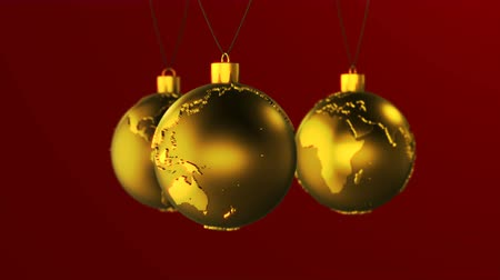 Loopable animation of Christmas ball shaped as globe