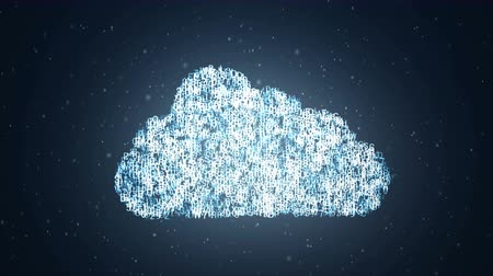 разведка : Cloud computing concept. icon appears from the letters of the alphabet