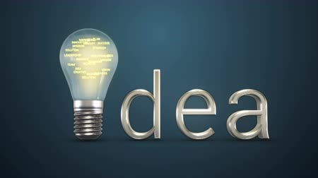 интенсивность : Idea Bulb with Business Words Inside