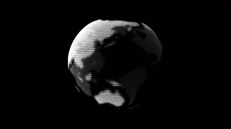 kontinent : Digital World Globe Hologram