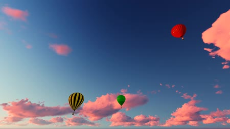 Air balloons flying on the sky