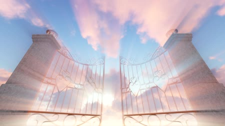 religions : Heavens Gate with gods ray, animation