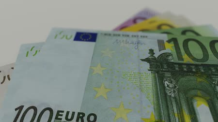 Euro banknotes, motion graphic Stock Footage