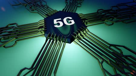 5G mobile network 3D rendering Stock Footage