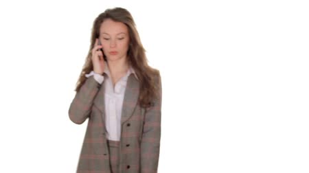 bizneswoman : Businesswoman talking on the cellphone