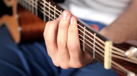roll up : Playing music at acoustic guitar