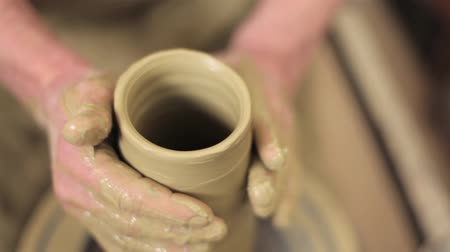 potter wheel : An artistit preparing his artwork - clay master