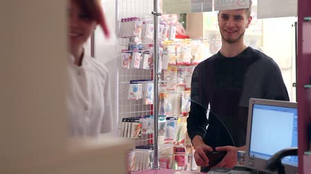 drogaria : Customer inside a pharmacy