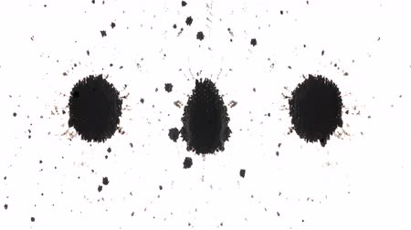 lekeler : Abstract organically captured ink drops Stok Video