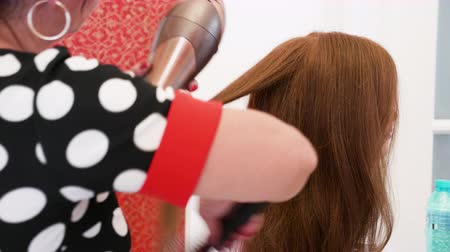 ringlet : Hairstylist practicing on a doll