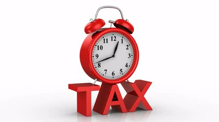 impostos : Tax. White background, 4 in 1, 3d render
