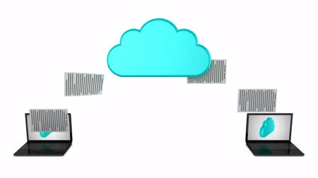 dobrador : Cloud Computing. White background, 3 in 1, 3d render