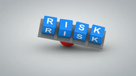 risco : Risk. Gray background, 3d render