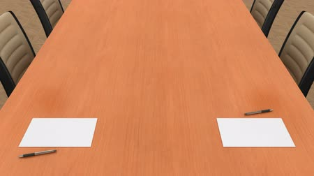 conferência : Conference Table. 3d render Vídeos