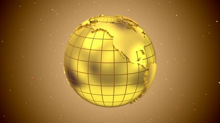 Globe. Loop, 3d render Stock Footage