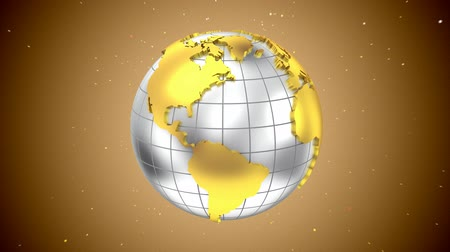 srebro : Globe. Loop, 3d render Wideo