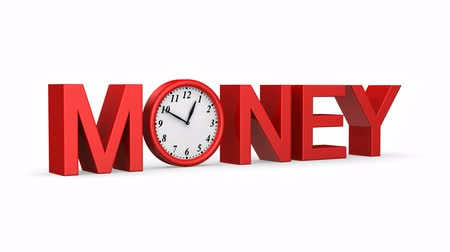 son teslim tarihi : Time is money. White background, 2 in 1, 3d render