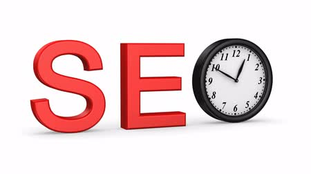 seo : Start SEO. White background, 2 in 1, 3d render Stock Footage