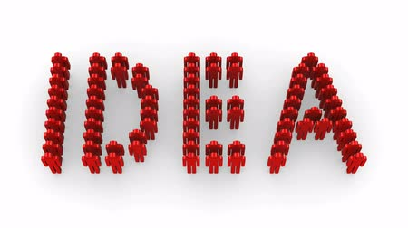 nápad : People form the word Idea. White background, 3d render Dostupné videozáznamy