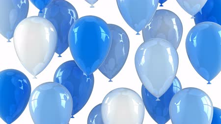 сюрприз : Balloons Flying Up. White background loop from 301th to the 600th frame created in 4K 3d animation