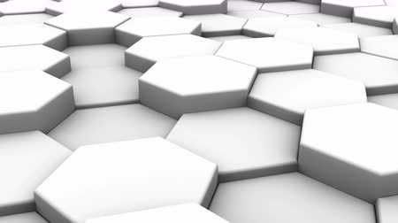forma tridimensional : White Blocks Animation. Abstract background, loop, created in 4K, 3d animation Vídeos