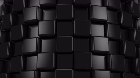 ve tvaru : Abstract Background of Black Cubes