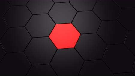 lider : Animation of Hexagons Stok Video