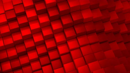 red square : Cubes Formed A Wave