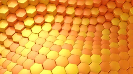 шестиугольный : Hexagons Formed A Wave Стоковые видеозаписи