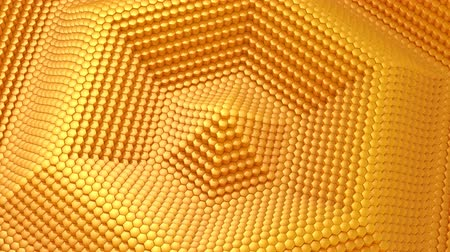 favo de mel : Hexagons Formed A Wave Vídeos