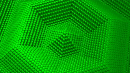 se movendo para cima : Hexagons Formed A Wave Stock Footage
