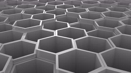hexahedron : Background of Hexagon Stock Footage