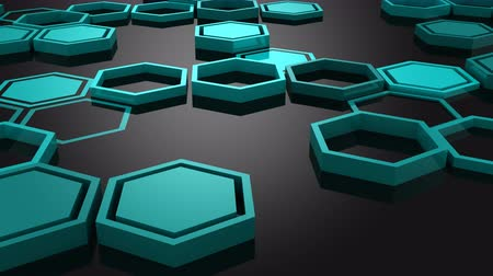 hexahedron : Background of Hexagons