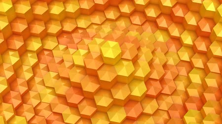 hexágono : Hexagons Formed A Wave Vídeos