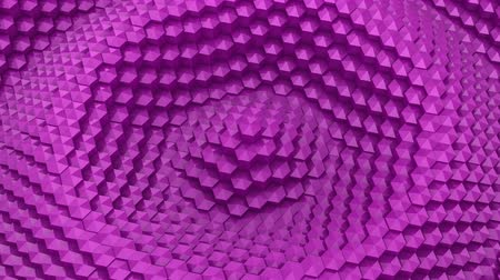 hexahedron : Hexagons Formed A Wave Stock Footage