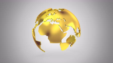 silver golden : Stepwise Rotation of the Earth Stock Footage