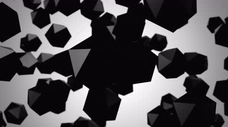 black and white : Background of Icosahedrons