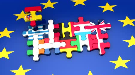 europeu : Establishment of the European Union Stock Footage