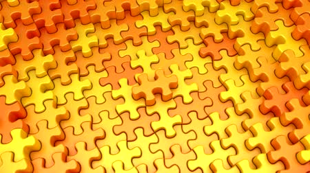 Puzzles Formed A Wave Stock Footage