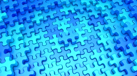 resolution : Puzzles Formed A Wave Stock Footage